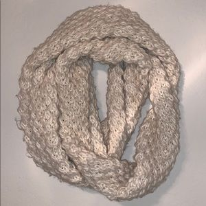 Cream Knitted Infinity Scarf